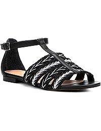 Rasteira Couro Shoestock Tranças