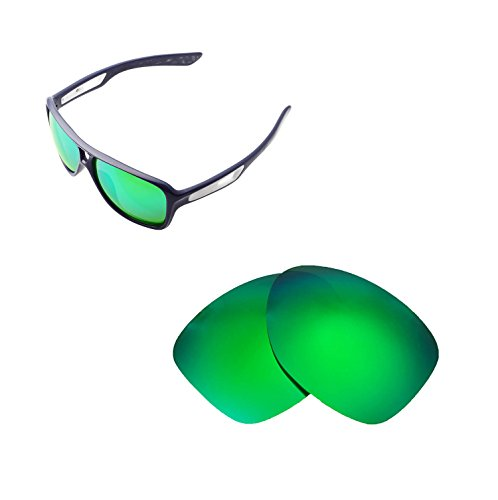 Walleva Replacement Lenses for Oakley Dispatch II Sunglasses - 6 Options Available (Emerald Mirror Coated - - 2 Replacement Lenses Oakley Dispatch