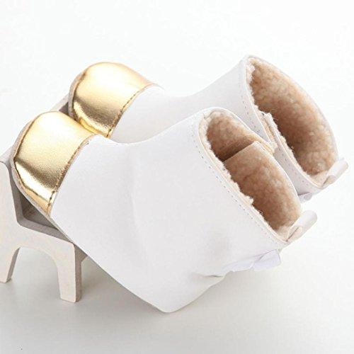 Clode® Kleinkind Baby Mädchen Warm Halten Bogen Leder Schneestiefel Weiche  Sohlen Krippe Schuhe Stiefel Winterstiefel ... 9030fe758f