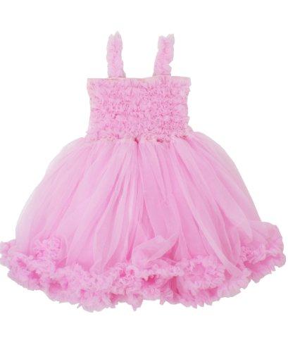 RuffleButts Infant / Toddler Girls Ruffled Princess Pettiskirt Dress - Pink - 12-24m (Ruffled Princess)