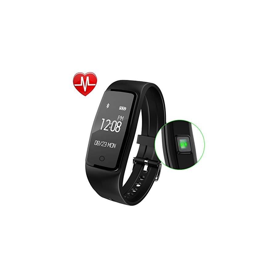 GULAKI Fitness Tracker Watch, Smart Band Wristband Heart Rate Monitor IP67 Waterproof Activity Tracker with Step Counter, Calorie Counter, Pedometer Watch for Smart Phone, Women & Men