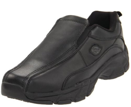 Dickies Men's Athletic Slip-On Work Shoe,Black,11 M US (The Best Work Shoes For Restaurants)