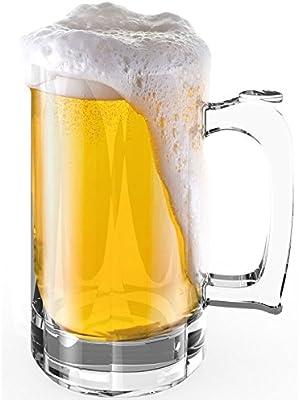 Stallion barware irrompible huracán jarra de cerveza – 510 ml – pack de 6: Amazon.es: Hogar