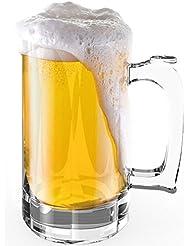 Stallion Barware Unbreakable Hurricane Beer Mug 510ml Pack Of 6