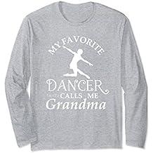 Womens Dancer Grandma Long Sleeve T-Shirt Granddaughter Flou
