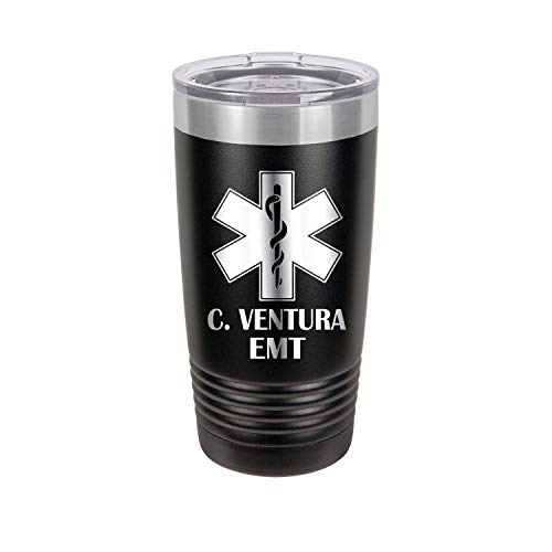 Tumbler Curve (Paramedic, EMT Personalized Engraved Insulated Stainless Steel 20 oz Tumbler)