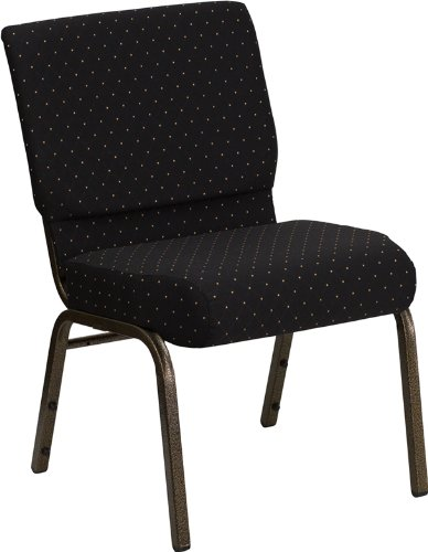 Flash Furniture HERCULES Series 21u0027u0027W Stacking Church Chair In Black Dot  Patterned Fabric