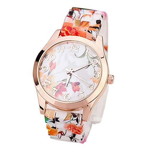 Bestow Reloj de Silicona para Mujer Reloj de Silicona Estilo Rural Retro  Reloj de Pulsera Impresa 9b22b4172392