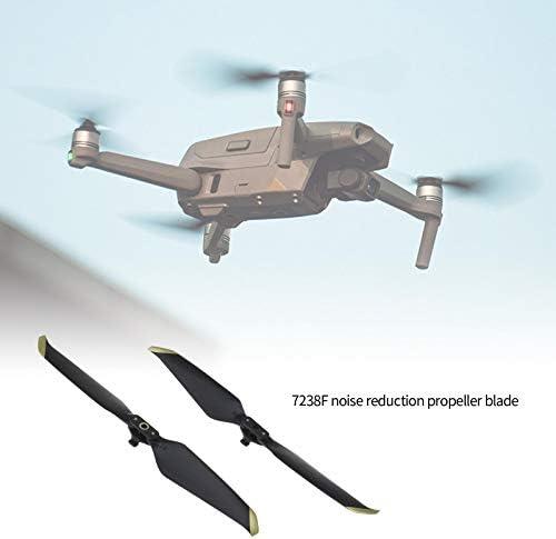 EMSea 7238F Lot de 2 hélices pour drone DJI Mavic AIR 2-Zoom Pointe Silencieux à dégagement rapide Doré