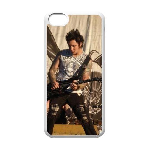 Avenged Sevenfold coque iPhone 5C Housse Blanc téléphone portable couverture de cas coque EBDOBCKCO12589