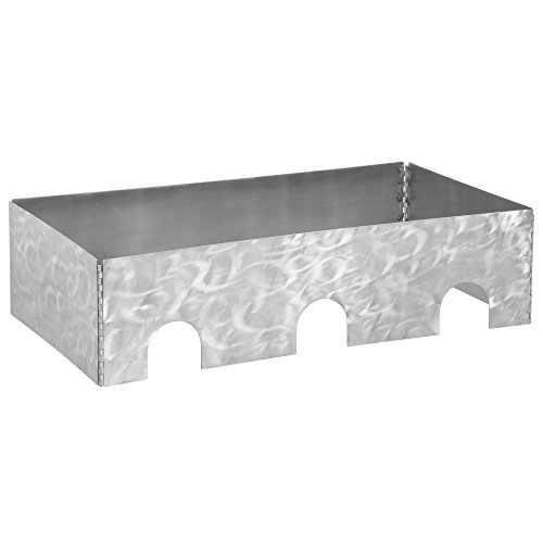 Tablecraft Caterware CW603RSS 3-Well Collapsible 16 Gauge Random Swirl Stainless Steel Server