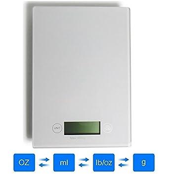aosmart Digital báscula de cocina multifunción alimentos escala, kg 5 kg (pilas incluidas): Amazon.es: Hogar