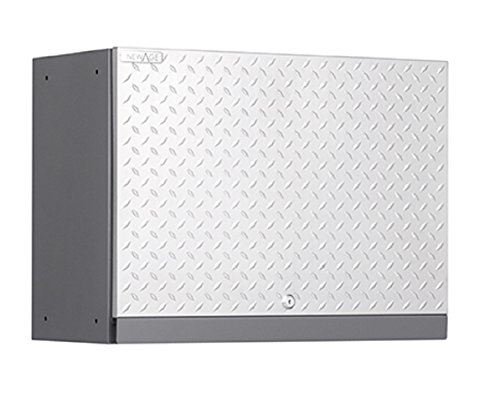 NewAge Products Performance Plus Diamond Plate Series Wall Cabinet, 22 by 28 by 14