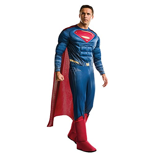 Movie Character Day Costumes (Rubie's Men's Superman Adult Deluxe Costume, Multi, Standard)