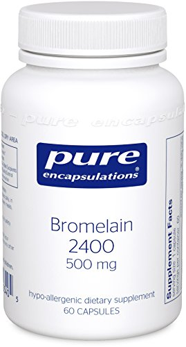 Pure Encapsulations - Bromelain 2400 - 500 mg - Hypoallergenic Dietary Supplement for Digestive Support* - 60 Capsules