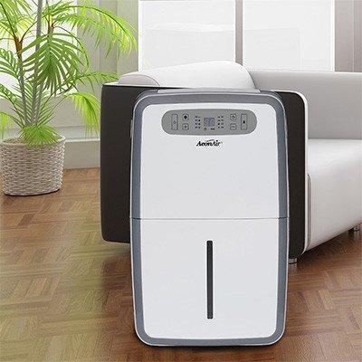 AeonAir 70 Pint 3 Speed Dehumidifier, White, 70 Pint