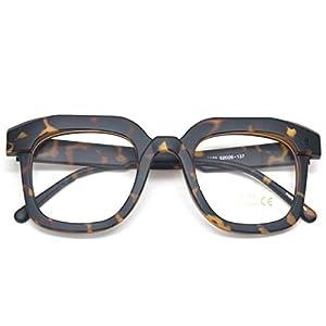 Oversized Square Thick Horn Rimmed Clear Lens Eye Glasses Frame Non-prescription