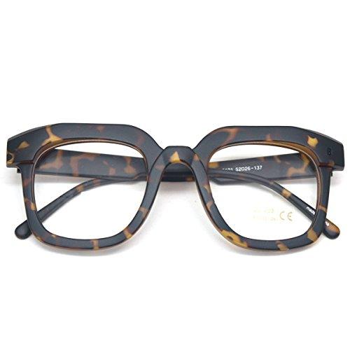 Oversized Square Thick Horn Rimmed Clear Lens Eye Glasses Frame Non ...