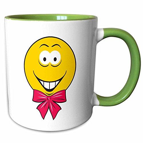 3dRose Dooni Designs Smiley Face Designs - Bandana Pirate Smiley Face - 15oz Two-Tone Green Mug (mug_103831_12)