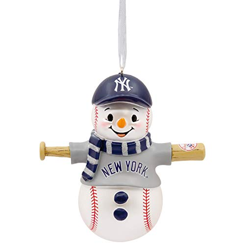 Mlb Baseball Snowman Ornament - Hallmark MLB New York Yankees Snowman Ornament Sports & Activities,City & State