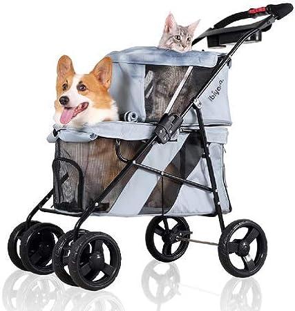 Ibiyaya 4-Wheel Double Pet Stroller