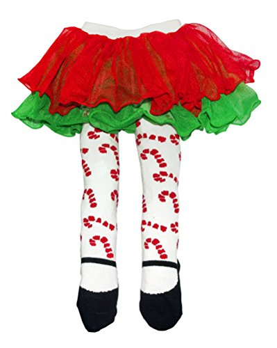 Baby Ganz Candy Cane Baby Tutu Tights -