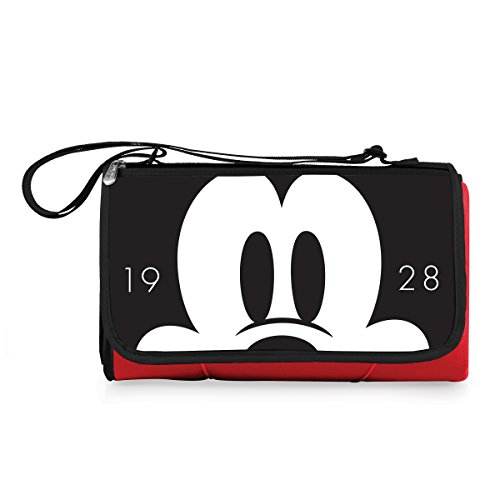 (Disney Classics Mickey Mouse Outdoor Picnic Blanket Tote, Red)