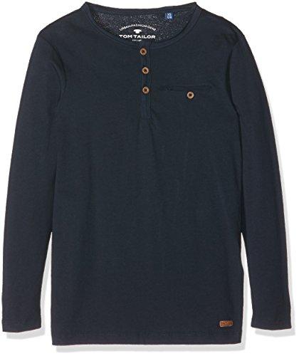 TOM TAILOR Kids Jungen T-Shirt Basic Henley Tee, Blau (Dark Blue 6012), 176
