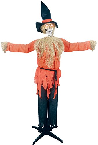 Standing Scarecrow With Moving Head Prop by Party Destination