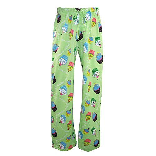Just One Women's Knit Novelty Print Pajama Pants, XL, Green