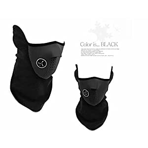 AKORD Máscara con cuello de neopreno para deportes de invierno, color negro, talla única 16