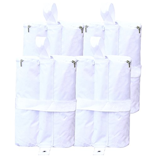 (ABCCANOPY Outdoor Pop Up Canopy Tent Gazebo Weight Sand Bag Anchor Kit-4 Pack (Double, White))