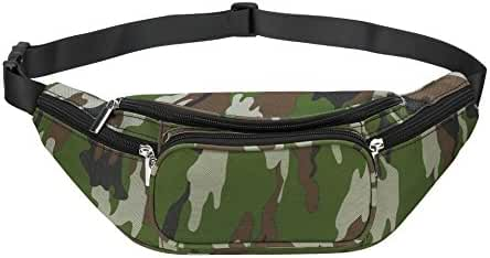 Nylon Water Resistant Outdoors Sports Travel Waist Fanny Bag Pack for Men and Women Black
