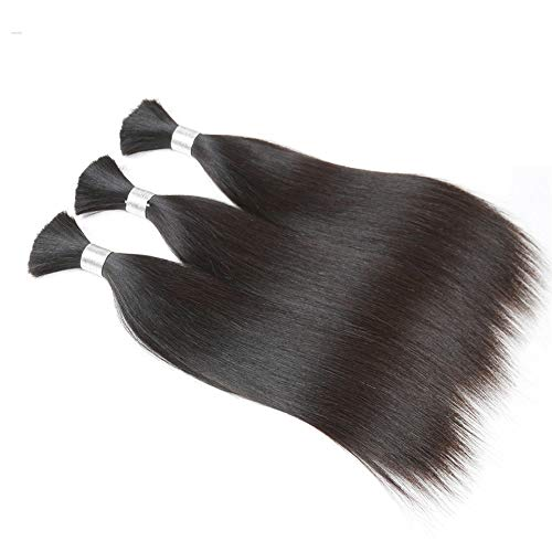 Human Braiding Hair Bulk Remy Peruvian Straight Hair 3 Bundles Hair Extensions