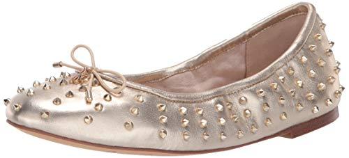 Sam Edelman Women's Fanley Ballet Flat Molten Gold Metallic Leather 8 M US (Leather Metallic Flats Ballet)