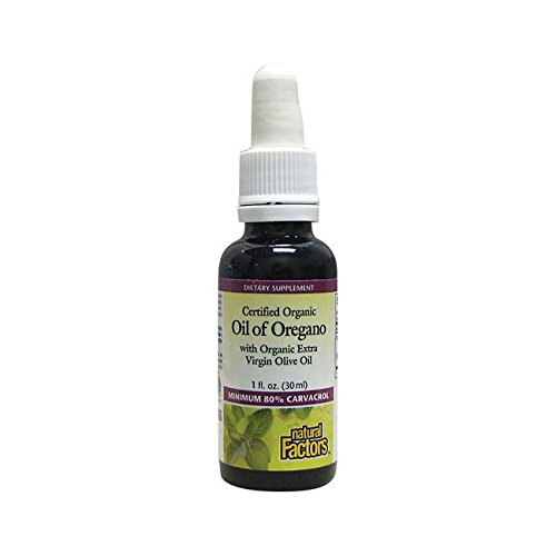 Natural Factors - Oil of Oregano, Certified Organic Support for Healthy Immunity and Cholesterol, 187 Servings (1 oz)