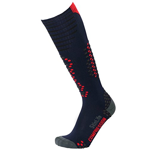 Ultra-Lightweight Compression Ski Socks - Merino Wool, Improve Circulation - Skiing, Snowboard Sock