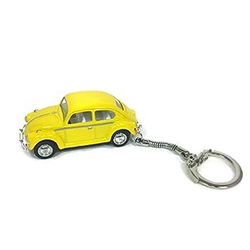Amazon.com: VW Beetle Llavero clásico Amarillo Beetle ...