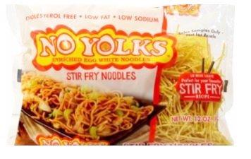 No Yolks Enriched Egg White Pasta - Stir Fry Noodles 12 oz. (Pack of 2)