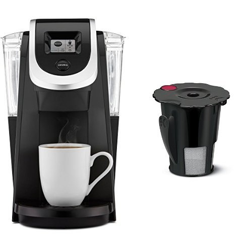 Keurig K250 Single Serve, Programmable K-Cup Pod Coffee Maker, Black & Keurig 2.0 My K-Cup Reusable Coffee Filter by