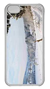 Customized iphone 5C PC Transparent Case - Winter Country Landscape Personalized Cover