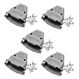 Yootop 5Pcs DB37 D-Sub Plastic Shell Cover for 37 Pin 2 Rows RS232 Serial Parallel Port Data Cable Connector Plug with Screws