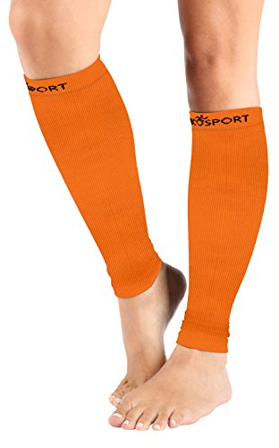 Compression Sleeve - Calf and Shin Splints Support - Best for Man and Women With Guard Leg Compression Design - Use For Running, Traveling, Cycling – Faster Pain Relief – (1 Pair)