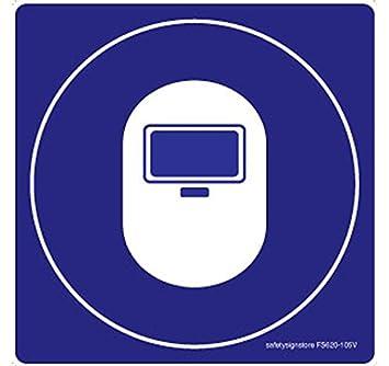Tienda de señal de seguridad para soldar Graphic material adhesivo 3 M policarbonato, 0,25 mm, 1 unidades) 105 L X 105 W: Amazon.es: Oficina y papelería