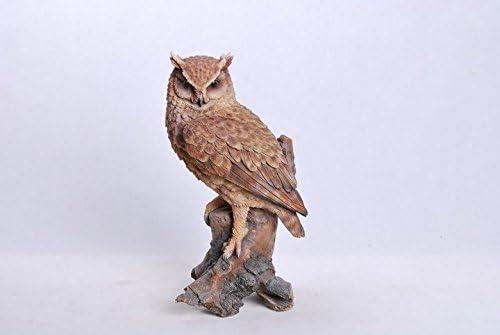 Hi-Line Gift Ltd. Great Horned Owl On Stump Statue