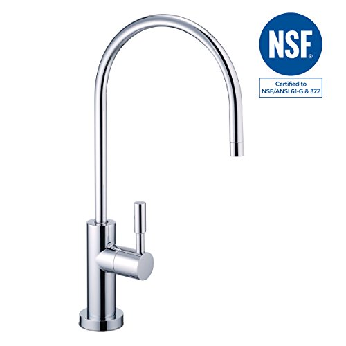 Brushed Chrome Air Gap - NSF 100% Lead Free Faucet Kitchen Sink Drinking RO Water Filter Reverse Osmosis Faucet Non Air Gap Brushed Nickel (Luxury Chrome)