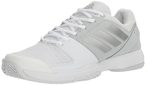adidas Damen Barricade Court Tennisschuhe Weiß / Metallic Silber / Medium Grey Heather