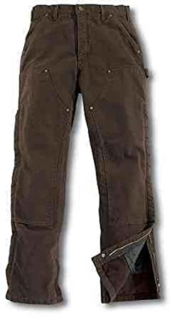 Carhartt Quilt Waist Overalls, Dark Brown, 40W x 30L