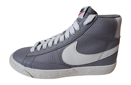 nike womens blazer mid Lthr VNTG hi top trainers 525366 sneakers shoes (UK 2.5 us 5 EU 35.5, light charcoal sail 001) Lthr Coat