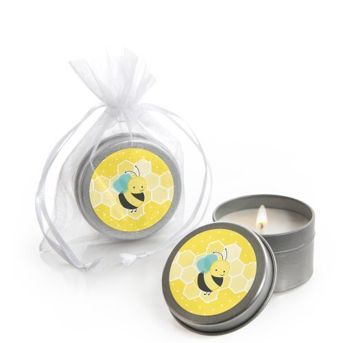 Honey Bee - Candle Tin Baby Shower Favors - Set of 12